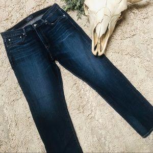 Lucky Brand - 410 Athletic Slim dark wash jeans